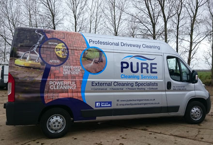 Pure Cleaning Services Van Part Wrap by Absolute Graphix