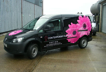 Contemporary Flowers Van Part Wrap by Absolute Graphix