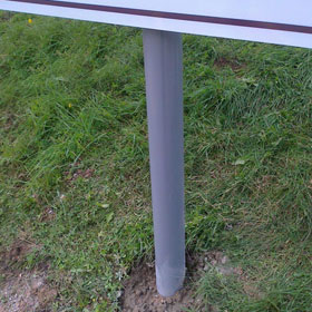 Sign on posts