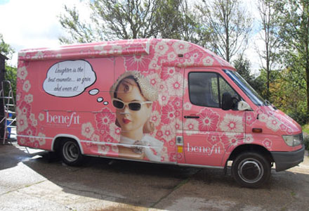 Benefit Cosmetics Vehicle Wrapping by Absolute Graphix